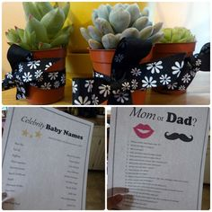 Couples Baby Shower Games and Prizes - Pinned this for the plant as a gift idea