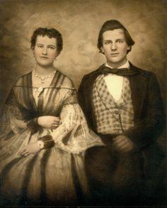 Wedding portrait of James Alexander Henderson and Virginia Lafayette Royall, ca. 1859.