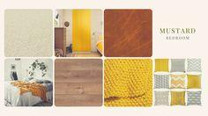 Mustard bedroom moodboard