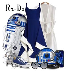 """R2-D2 - Star Wars"" by rubytyra ❤ liked on Polyvore featuring R2, Esteban Cortazar, Converse, Casetify and Montblanc"