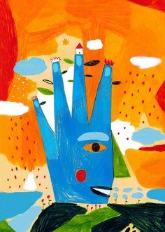 hand face by Inma Lorente, spanish illustrator