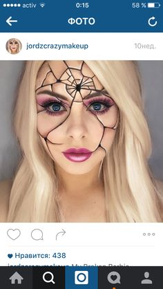 Halloween - Make-up Schminke und Co. # Make-up - Halloween Make up - halloween makeup Cracked Doll Makeup, Broken Doll Makeup, Creepy Doll Makeup, Doll Face Makeup, Creepy Doll Costume, Face Off Makeup, Barbie Makeup, Make Up Gesicht, Fantasias Halloween