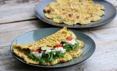 Vaffelomelett Egg Recipes, Brunch Recipes, Breakfast Recipes, Healthy Recipes, Healthy Breakfasts, Breakfast Ideas, Breakfast Omelette, Breakfast Casserole, Food Porn
