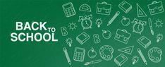 Back to school green board banner Premiu. Software, Art Grants, Back To School Sales, Still Life Art, Teacher Resources, Banner, Outline, Concept, Children