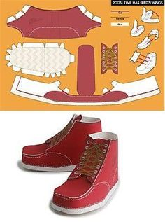 LV Papercraft Sac Page 1 of 3 by randyfivesix Clown Shoes, Doll Shoes, Paper Crafts Origami, Diy Paper, Shoe Template, Paper Shoes, Cardboard Sculpture, Diy Gift Box, Paper Artwork