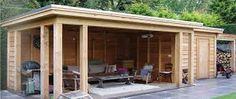 Afbeeldingsresultaat voor landelijk tuinhuis plat dak
