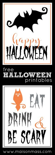Free Halloween printables for your home. Holidays Halloween, Halloween Diy, Happy Halloween, Halloween Halloween, Free Halloween Printables, Free Printables, Trunk Or Treat, Halloween Prints, Diy Halloween Decorations