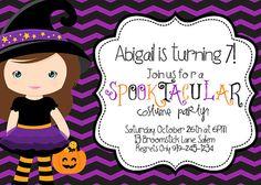 Halloween Birthday Invitation Halloween by SewKawaiiKids on Etsy