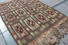 "5x4 Turkish Kilim Cicim Unique Flat Woven Kilim Turkish Kilim Vintage Rug jijim rug tribal kilim Cream White Kilim  5'5'' x 4'1"" / 167x126cm"