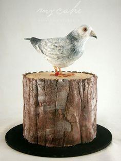 Paloma mensajera - cake by Natalia Casaballe