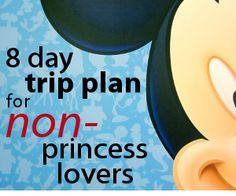 8 day trip plan for non-princess lovers. So this is what my life will entail if I don't have a daughter I suppose.