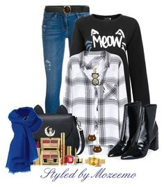 """""""Casual Jeans Outfit"""" by mozeemo ❤ liked on Polyvore featuring Frame Denim, Rails, STELLA McCARTNEY, Topshop, DB Designs, Cartoon Network, Estée Lauder and Nixon"""