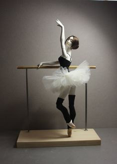 """BJD ballerina doll """"At the ballet class"""" + Dancers bar. Collectible doll, art doll, ball jointed doll, gift for dancer. Ballet Art, Ballet Class, Biscuit, Porcelain Dolls Value, Ballerina Doll, Ceramic Animals, Doll Stands, Bjd Dolls, Packaging"""