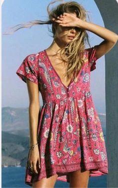612e8625524f US $23.93 30% OFF Women vacation peacock printing mini dress V collar printing  short dress sweet boho beach dress sexy summer dress vestidos mujer-in ...