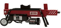 Boss Industrial Electric Log Splitter, > 8 tons of force with a powerful 2 HP electric motor featuring easy push button start Split logs up to in length and in diameter cylinder bore Electric Logs, Electric Motor, Manual Log Splitter, Simple Garden Designs, Look Good Feel Good, Boss, Industrial, Lawn Equipment, Action