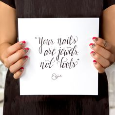 essie's words to live by.