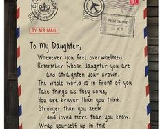 Love Letter Blanket: Personalized Gift for Mom Woven   Etsy Personalized Fathers Day Gifts, Letter To Yourself, Kids Blankets, Handwritten Letters, Queen, Your Teacher, Meaningful Gifts, Note To Self, Love Letters