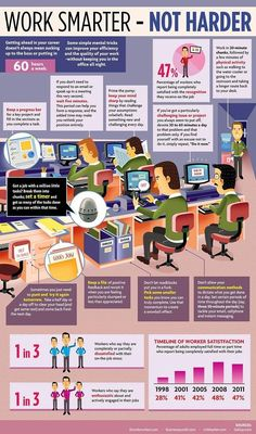 Work Smarter - Not Harder #infographic