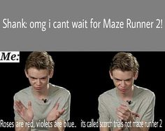 HAHAHAHAHAH I CAN'T BREATH .... Thomas Sangster is so funny :')