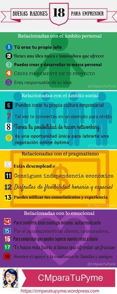 18 razones para emprender #infografia #infographic #entrepreneurship