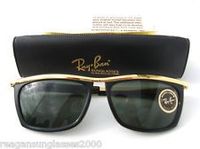 Ray-Ban Sunglasses Olympian II L1004 Gold Black USA  - THERE WERE HUGE IN THE LATE 80S. JOHNNY DEPP IN 21 JUMP ST.