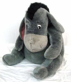 "Disney Store Jumbo Eeyore Giant Plush Stuffed Donkey Winnie the Pooh RARE 24"" #Disney"