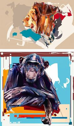 Illustrations by Denis Gonchar | Inspiration Grid | Design Inspiration