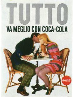 Coca-Cola, Italy Coca Cola Brands, Coca Cola Ad, World Of Coca Cola, Pepsi, Vintage Packaging, Vintage Labels, Vintage Ads, Vintage Posters, 80s Ads