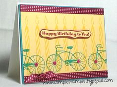 Susan Itell Cycle Celebration Stamp Set and also the Birthday Basics Designer Series Paper!