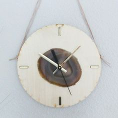 Another Natural Agate on Wood Wall Clock looking for a new home ;)
