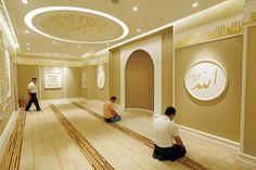 mosque in Turkey inside a shopping mall Mosque Architecture, Creative Architecture, Islamic Decor, Islamic Art, Prayer Corner, Dental Design, Beautiful Mosques, Islamic Prayer, Prayer Room