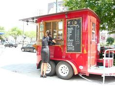 42 Incredible Mobile Trailer Bar Design Ideas For Best Bar Alternative - Smart Home and Camper Coffee Carts, Coffee Truck, Coffee Drinks, Small Food Trailer, Boutique Mobiles, Converted Horse Trailer, Mobile Cafe, Mobile Shop, Coffee Trailer