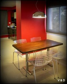 #kitchen #cookingclass #cook #food #wood #isle #style #interiors #home #house #homedecor #red #modern #wood #steel #apartment