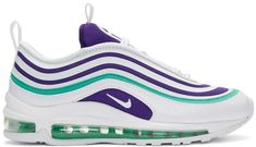 Shop Wmns Air Max 97 Ultra 17 SE 'Grape' - Nike on GOAT. We guarantee authenticity on every sneaker purchase or your money back. Air Max 97, Nike Air Max, Air Max Sneakers, Sneakers Nike, Nike Trainers, Hype Shoes, Kinds Of Shoes, Nike Outfits, Dream Shoes