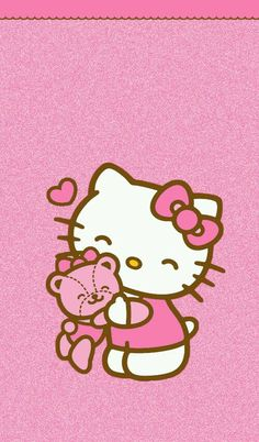 Image via We Heart It https://weheartit.com/entry/145180764/via/22479432 #cute #hellokitty #pink #wallpaper