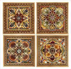 Italian Renaissance  4 Tile Set