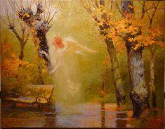 Victor Nizovtsev Tutt Art Josephine Wall, Fantasy Paintings, Fantasy Art, Victor Nizovtsev, Angel Plant, Whispers In The Dark, Magic Realism, Ukrainian Art, Hindu Art