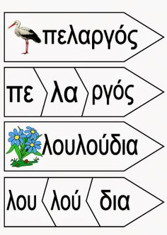 Ελένη Μαμανού: Καρτέλες για την άνοιξη Greek Language, First Language, Greek Alphabet, Preschool Kindergarten, Spring Crafts, Pre School, Second Grade, Booklet, Activities For Kids