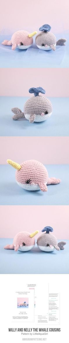 Willy and Nelly the whale cousins amigurumi pattern by LittleAquaGirl
