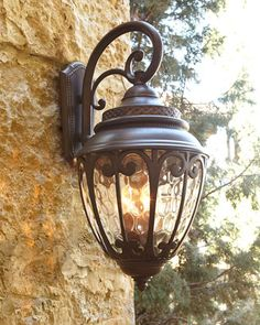Scandia Outdoor Lantern Sconce at Horchow.