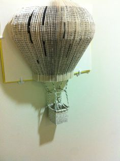 Up Up and Away they say. beautiful hand crafted hot air balloon sculpture.