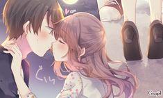 Anime Love Couple, Cute Anime Couples, Romantic Manga, Harry Potter Anime, Lovey Dovey, Kawaii Anime, Drawings, Illustration, Lovers