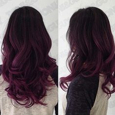 Red Purple Ombre Hair Color Idea for dark hair,new choice of dye purple hair, dark purple hair. Red Purple Ombre Hair Color Idea for dark hair,new choice of dye purple hair, dark purple hair. Pretty Hair Color, Hair Color And Cut, Hair Color Dark, Ombre Hair Color, Purple Ombre, Magenta Hair, Color Red, Burgundy Hair Ombre, Violet Ombre