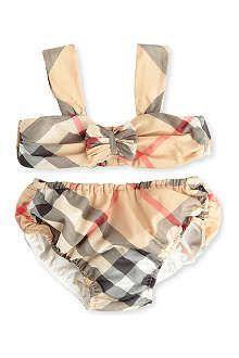 BURBERRY Classic check bikini 3 months 3 years - Gucci Baby Clothes - Ideas of Gucci Baby Clothes - Adorable! Baby Bikini, Gucci Baby Clothes, Cute Baby Clothes, Baby Burberry, Burberry Classic, Cute Baby Girl, Bikini Photos, Bra Tops, Kids Fashion