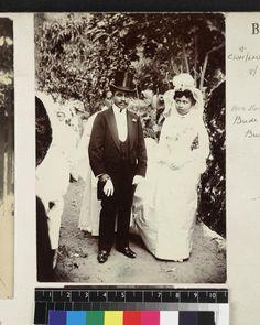 University of Southern California - Portrait of bride and bridegroom, Madagascar, ca. 1890 Victorian Life, University Of Southern California, Madagascar, Bride Groom, Polaroid Film, Portrait, Headshot Photography, Portrait Paintings, Drawings