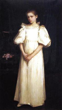 Phyllis Waterlow - Waterhouse John William Date: 1895 Style: Romanticism Genre: portrait
