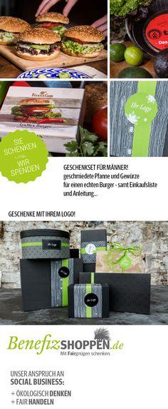 Geschenkset Burger: Ein echtes Männergeschenk inklusive Geschenkverpackung von www.benefizshoppen.de #werbegeschenke #kundengeschenke #firmenpräsente