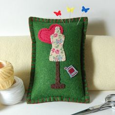 Love to Sew Wool Felt Pincushion by TheBlueDaisy, via Flickr