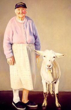 """Goat Lady'  - Jane Bregoli...love the goat lady!!!!!"
