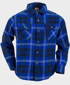 Boys' Blue Button-Down Plaid Flannel Shirt  #fashionstyle #instagram #shoppingonline #clothes #fashionista #canadaonline #onlinestore #kidsclothes #fashion #shoppingday